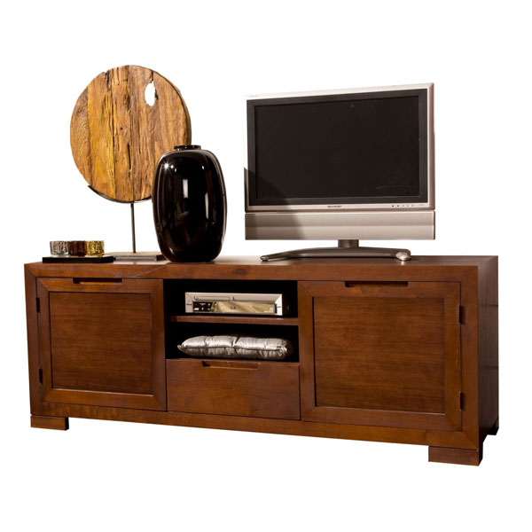 LARGE WOODEN TV TABLE