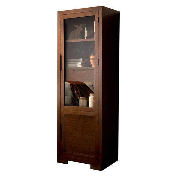 SINGLE WOODEN CUPBOARD WITH DRAW