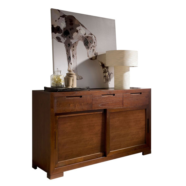 SMALL WOODEN CREDENZA