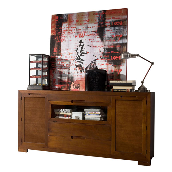 LARGE WOODEN CREDENZA