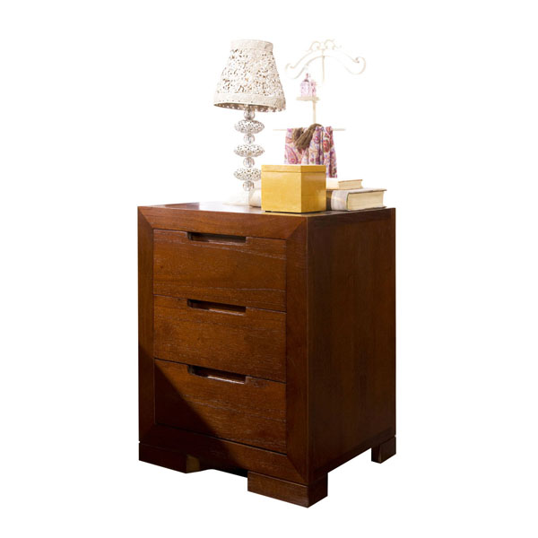 PLAIN BEDSIDE TABLE 3 DRAWERS