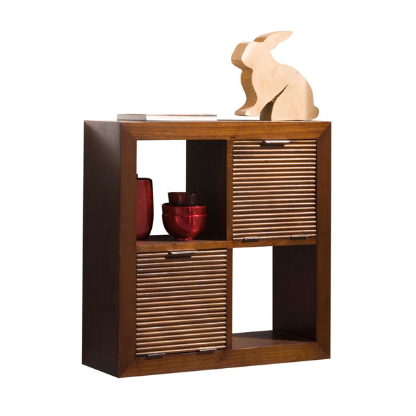 JAIPUR WAVES HANG SHELF 4 DRAWERS
