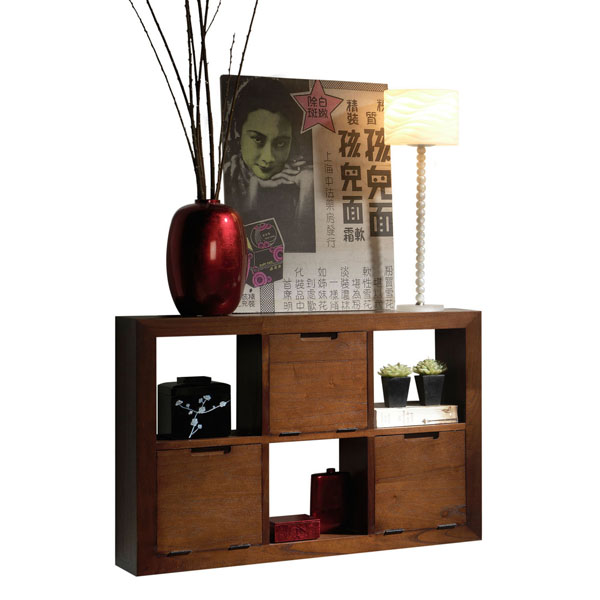 JAIPUR PLAIN HANG SHELF 6 DRAWERS