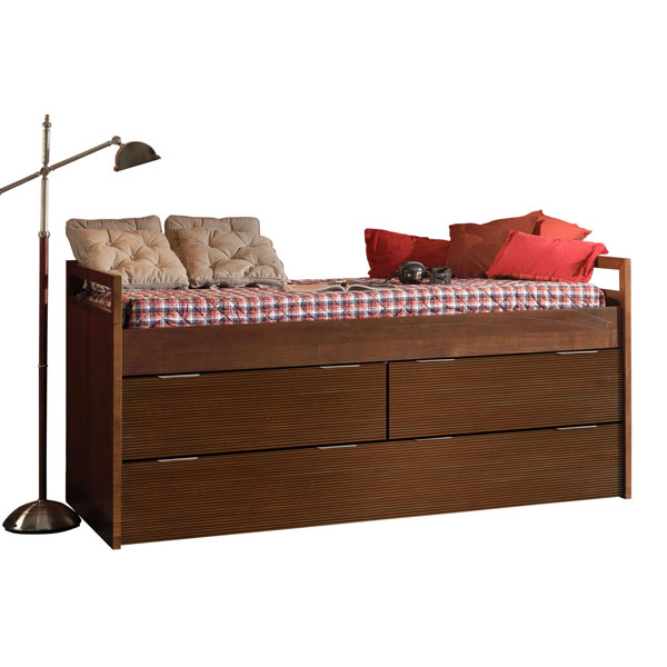 WAVES COMPACT BED WITH DRAWERS