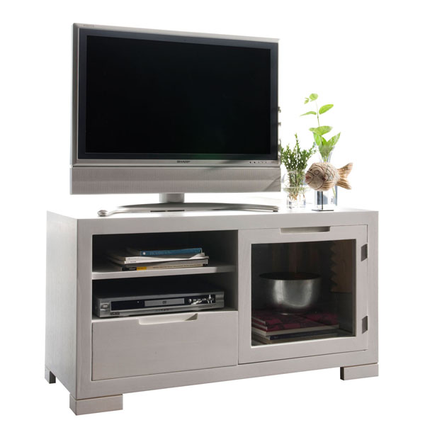 SMALL GLASS TV TABLE