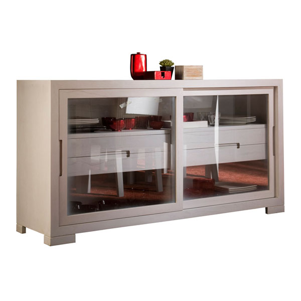 MEDIUM GLASS CREDENZA