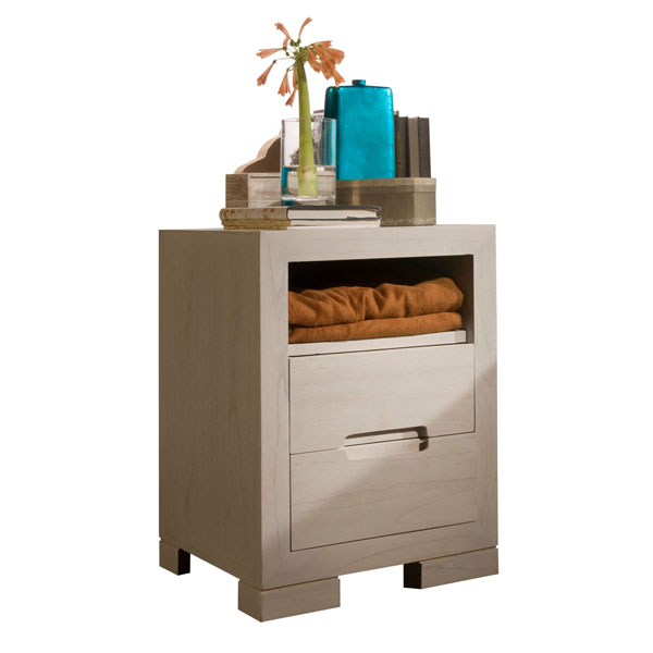 PLAIN BEDSIDE TABLE 2 DRAWERS
