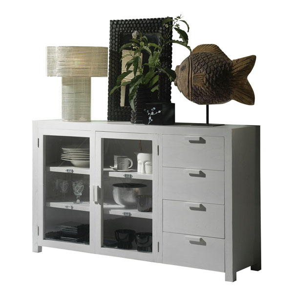 STORAGE - MEDIUM GLASS CREDENZA
