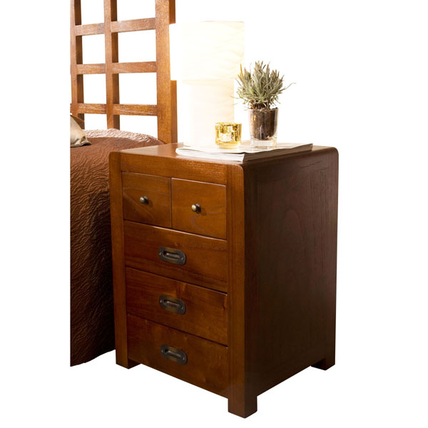 BEDSIDE TABLE 3+2 DRAWER