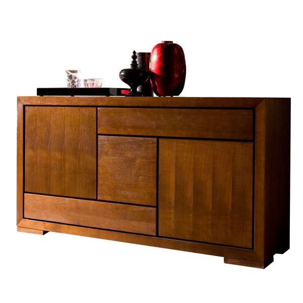 SMALL WOODEN DOOR CREDENZA
