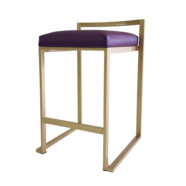 BARSTOOL WITH METAL SLED BASE LEGS