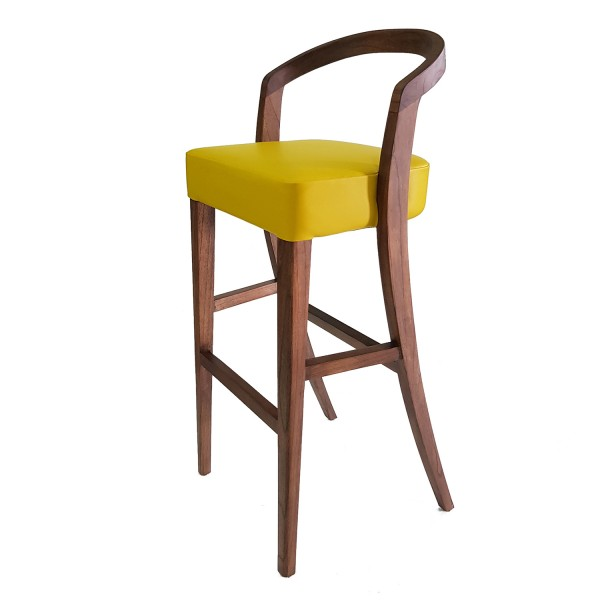 BENTWOOD BARSTOOL IN NATURAL RAINDWOOD
