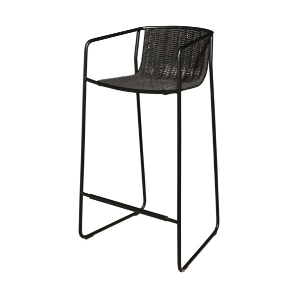 OUTDOOR BLACK STOOL