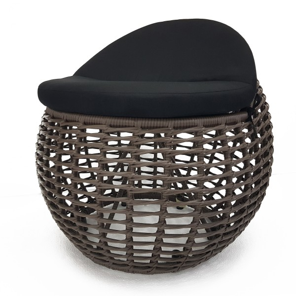 BLACK WOVEN SIDE CHAIR