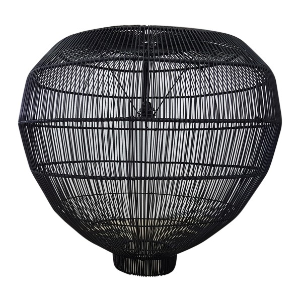 CLUSTER OF (9) IRREGULAR SHAPED BLACK RATTAN