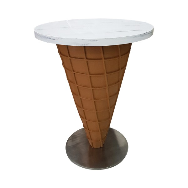 CUSTOM CARVED WAFFLE CONE TABLE