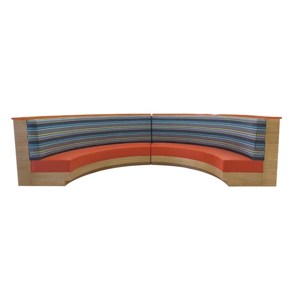 CUSTOM CURVED BANQUETTE