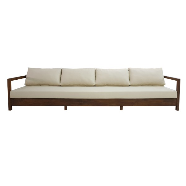CUSTOM SOLID TEAK OUTDOOR SOFA