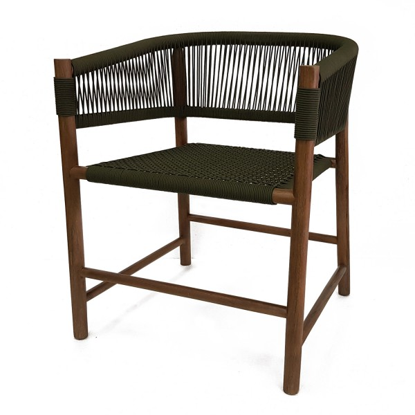 DINING CHAIR BARREL BACK RATTAN