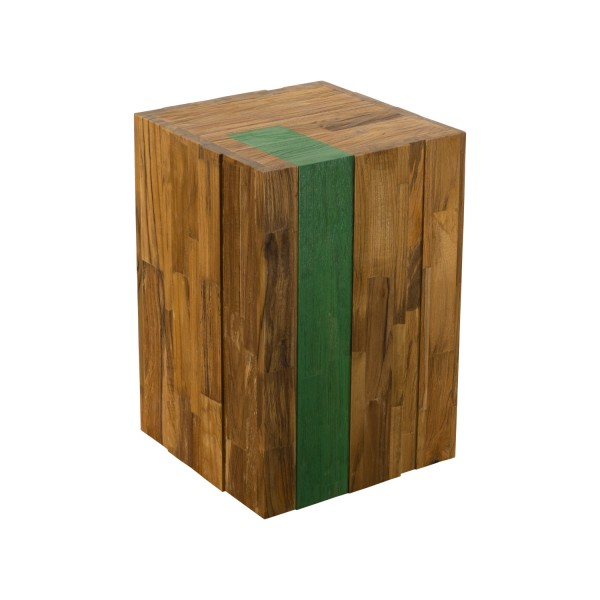 DISPLAY STAND CUBE WITH GREEN LINE