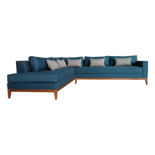 GREEN SECTIONAL L SOFA