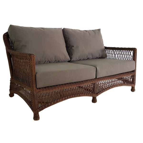 HANDWOVEN DRIFTWOOD 2 SEATER SOFA