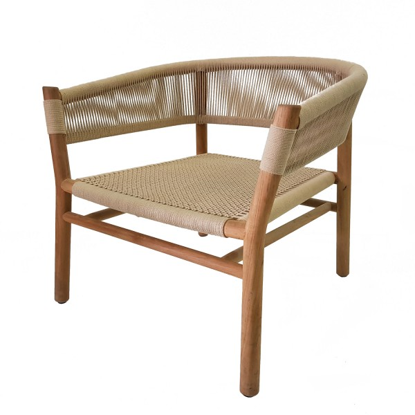 KILT LOUNGE ARMCHAIR NATURAL