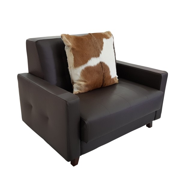 LEATHER SOFA 1 SEATER