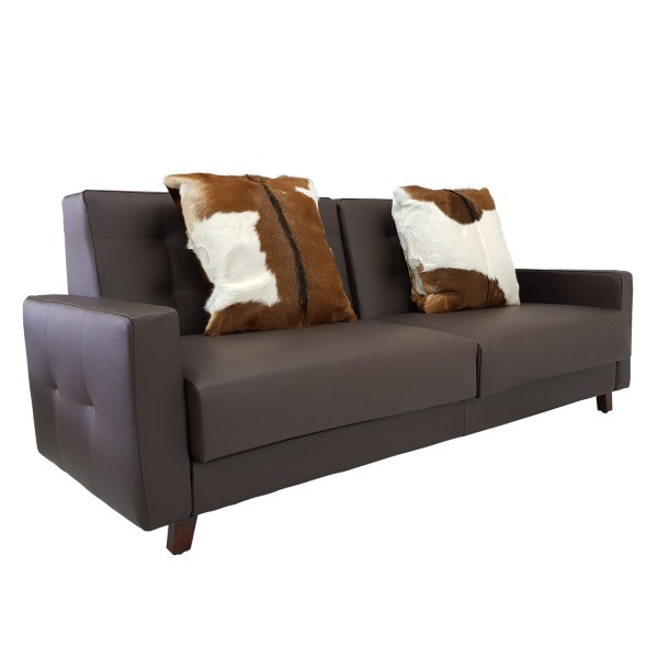 LEATHER SOFA 2 SEATERS