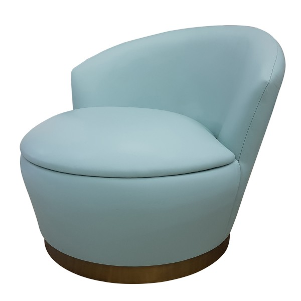 LOUNGE BARREL BACK CHAIR WITH RECESSED PLINTH BASE