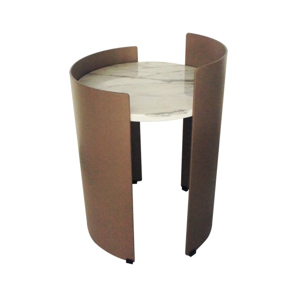 MERCURE-CORNER ROUND SIDE TABLE