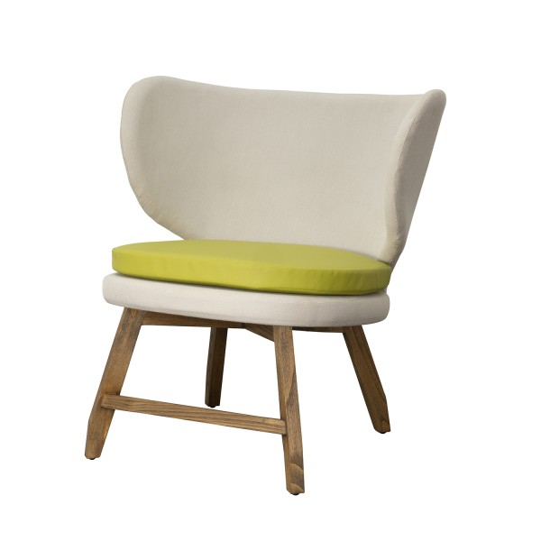 OAK CHAIR WITH SEAT CUSHION A