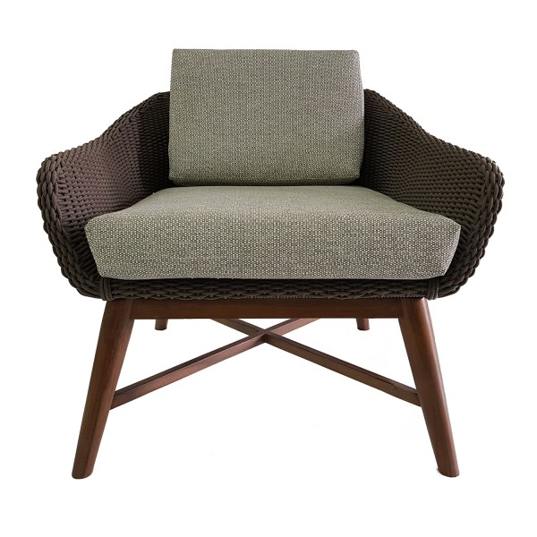 WOVEN ROPE OUTDOOR LOUNGE CHAIR
