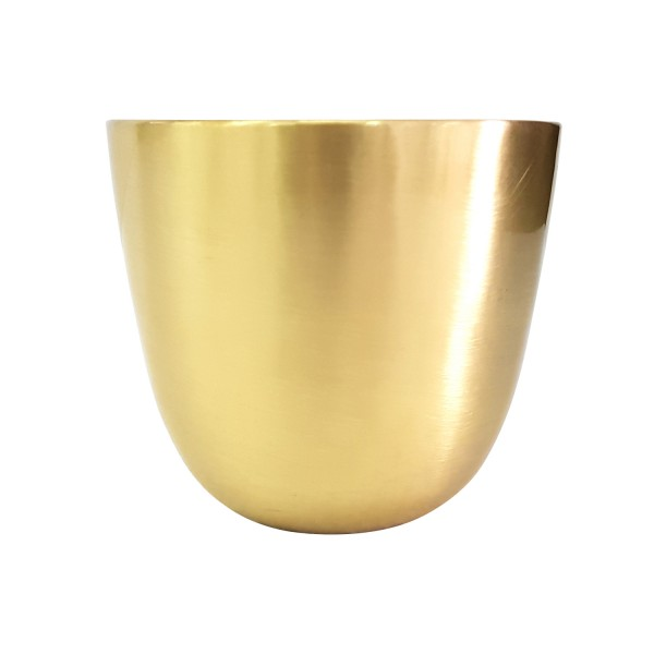 POLISHED BRASS PLANTER