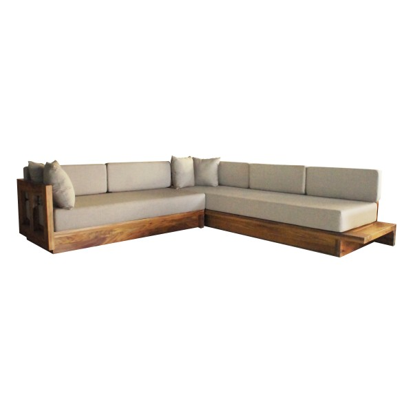 SKYLINE-SOFA L INTEGRATED TABLE