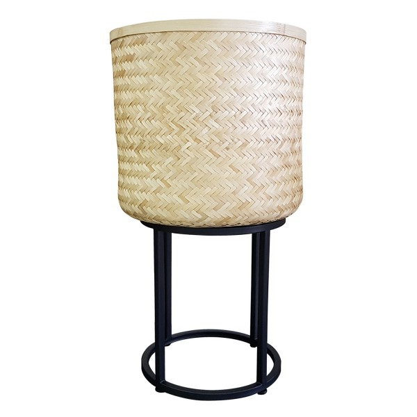 SMALL NATURAL WOVEN BASKET