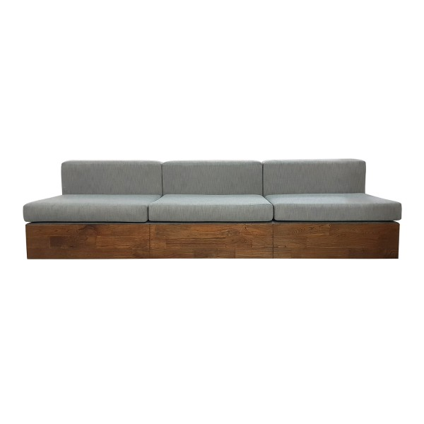 SOFA WITH WOOD BOX BASE