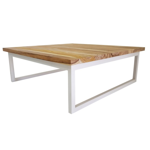 SQUARE COFFEE TABLE WHITE BASE