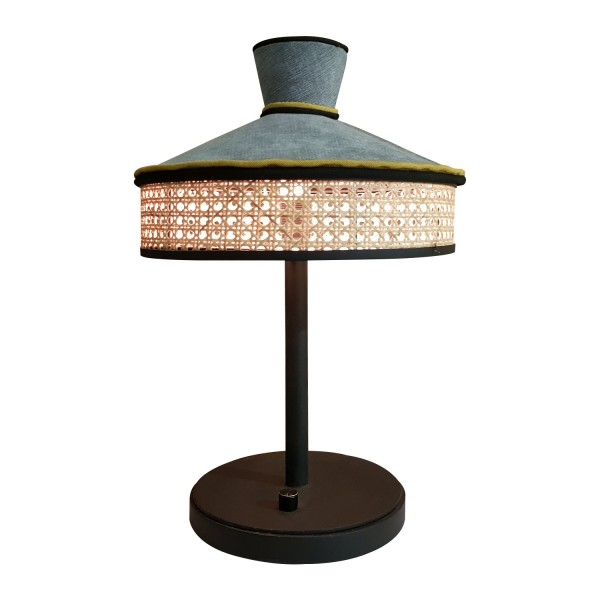 TABLE LAMP WICKER