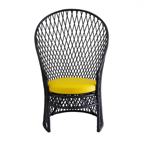 TALL WOVEN LOUNGE CHAIR