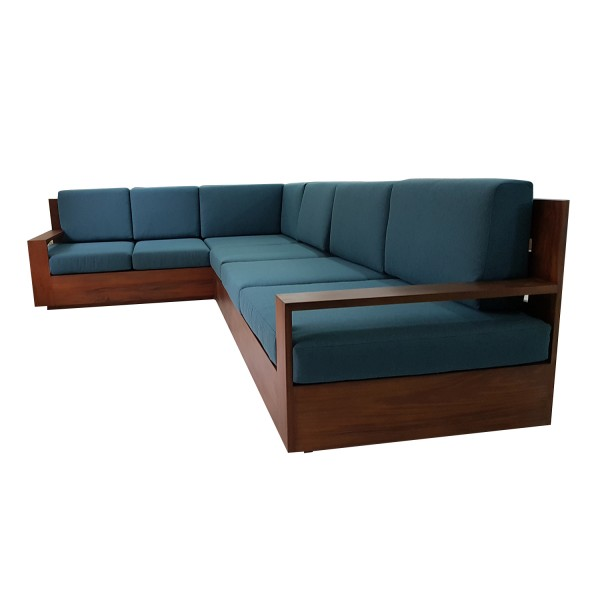 TEAK SHAPED SOFA