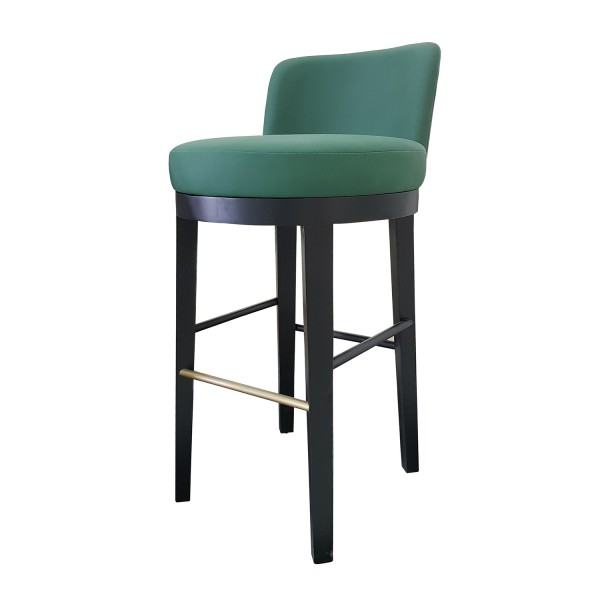 UPHOLSTERED BARSTOOL WITH LOW BACK