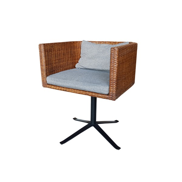 ROTATE WICKER STOOL