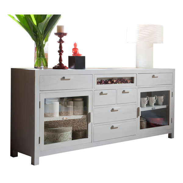LARGE GLASS CREDENZA 200