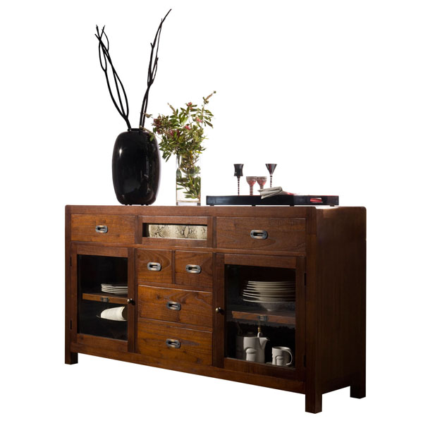 LARGE GLASS CREDENZA 160