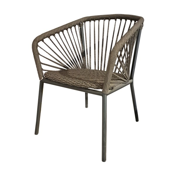 OUTDOOR ARMCHAIR WICKER ROPE