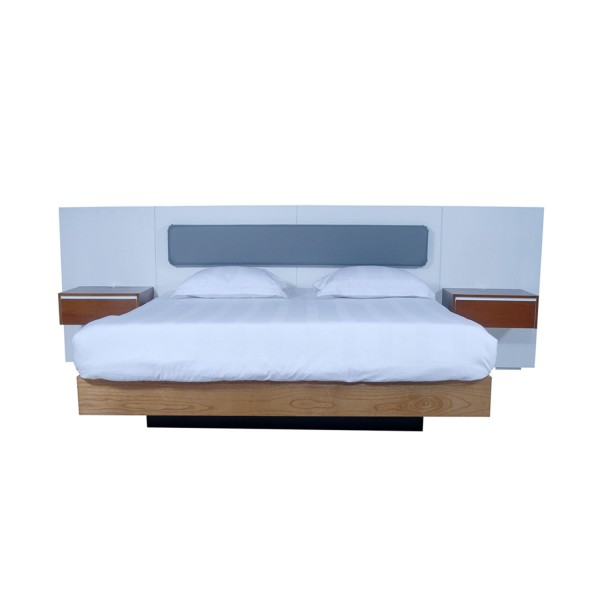 SET OF BED 200 INCL. HEADBOARD & 2 BEDSIDES