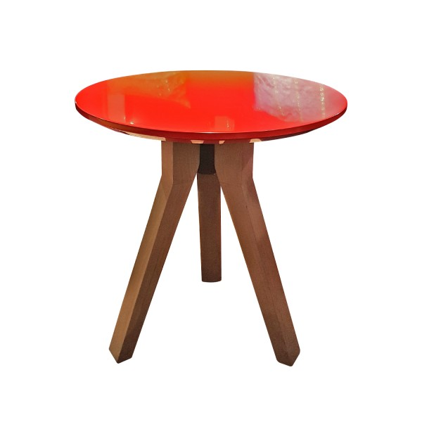 COFFEE TABLE TALL KRION RED