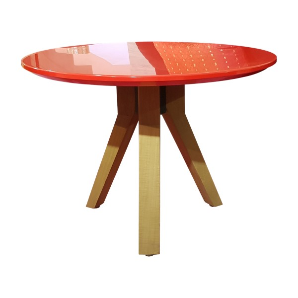COFFEE TABLE LOW KRION RED
