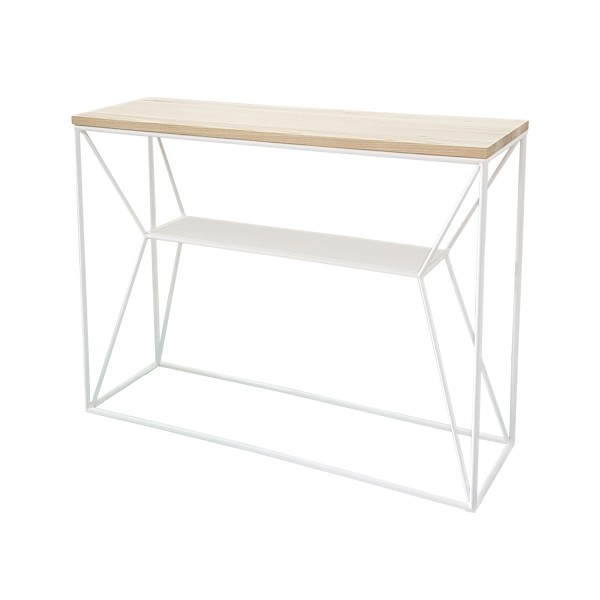 CONSOLE NATURAL WHITE BASE